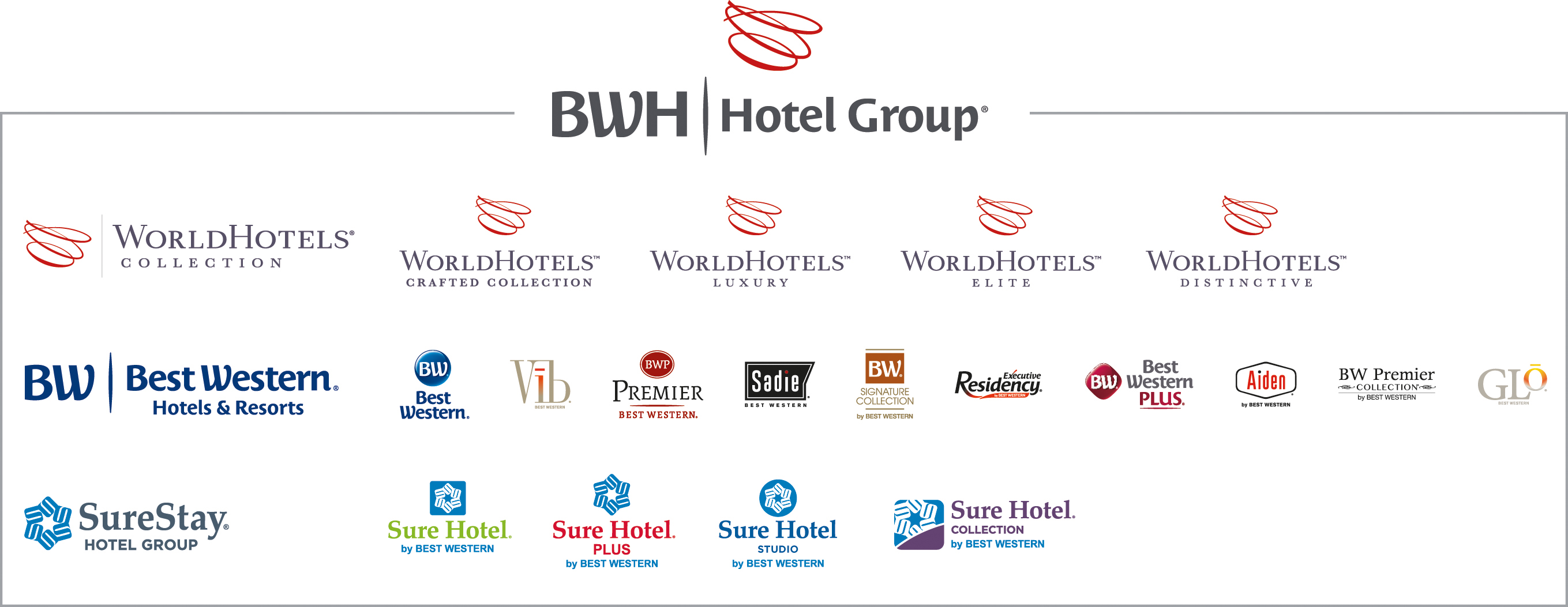 BWH Hotel Group Logos